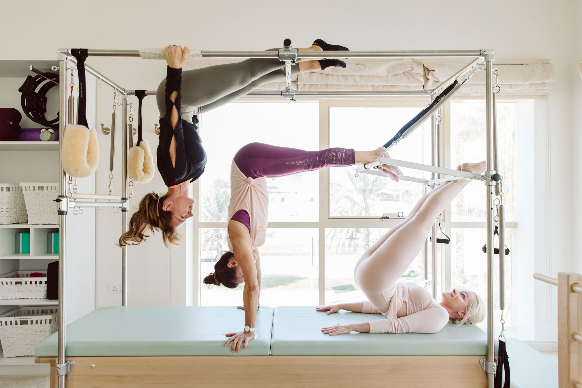 women doing pilates at pilates studio in Abu-Dhabi, UAE
